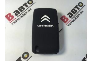 Чехол силиконовый ключа для Citroen C2, C3, C4, C5, C6, C8, Xsara Picasso (на 3 кнопки)