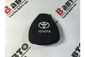 Чехол силиконовый ключа для Toyota Corolla, Hilux, Rav4, Prius, Camry, Land Cruiser Prado